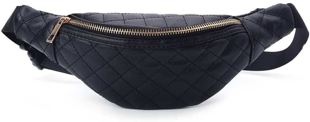 LOHONER Fashion Women Waist Bag Bum Phone Pouch Fanny Pack Running Zip Belt Chset Bags Travel