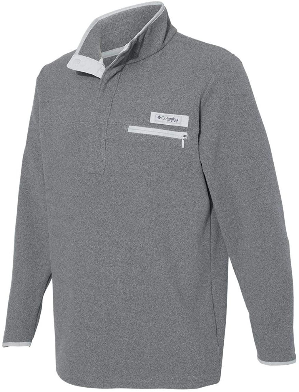 Columbia - PFG Harborside Fleece Pullover - 156757-3X - Cool Grey Heather