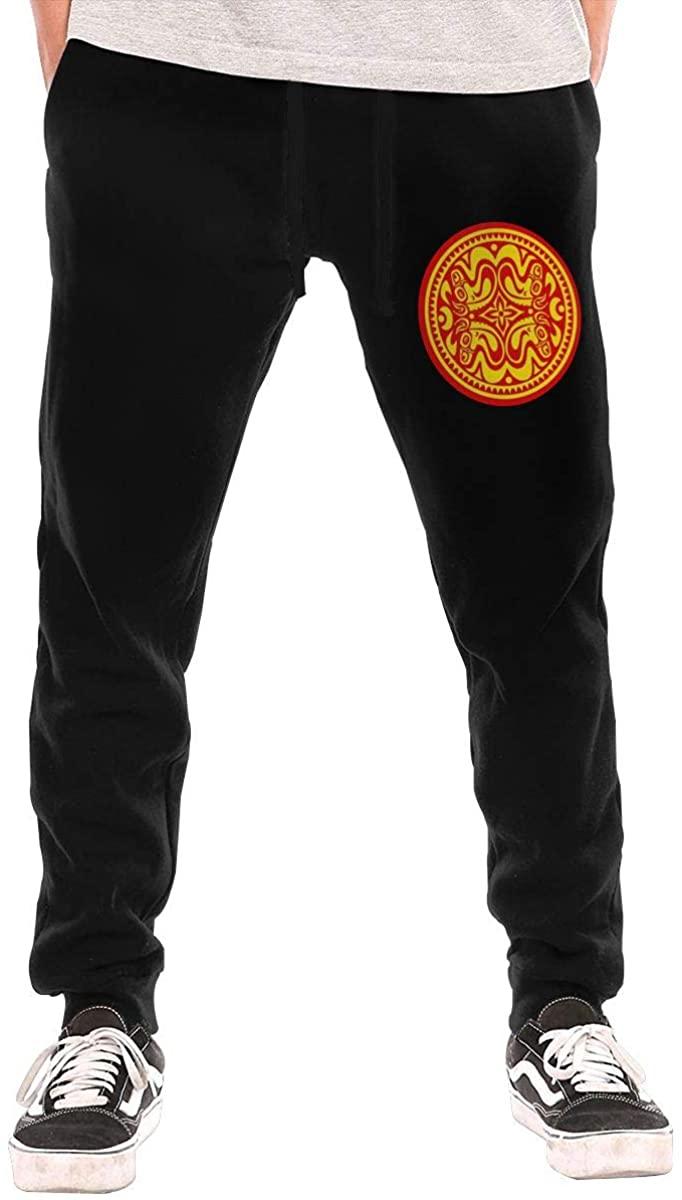 COURTNEYJOHNSON Gov't Mule Red&Yellow Logo Men's Fleece Sweatpant Workout Training Pants