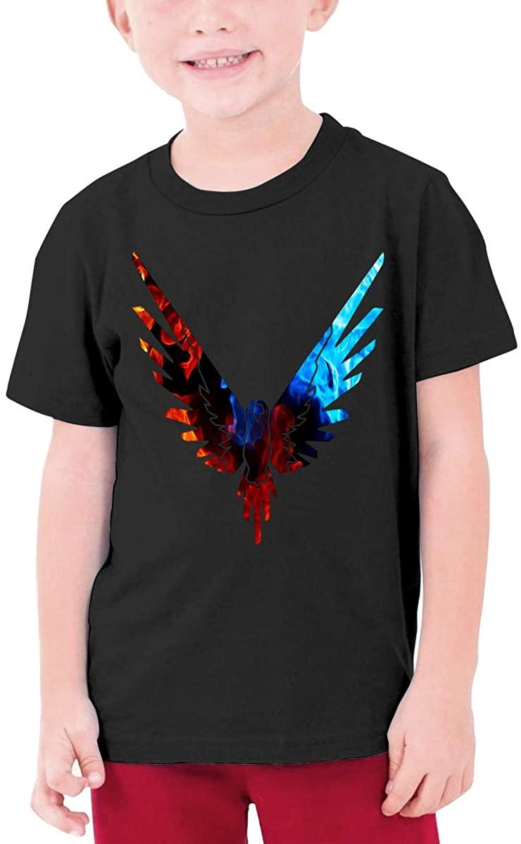 Logan Paul Maverick Boys and Girls Cotton Round Neck Short-Sleeved T-Shirt Kids Shirt