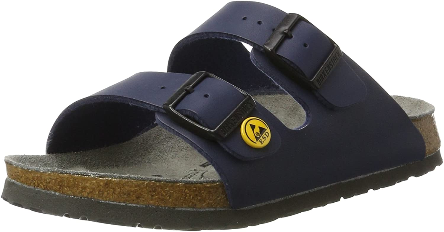 Birkenstock Sandals Arizona ESD from Birko-Flor in blue 43.0 EU W