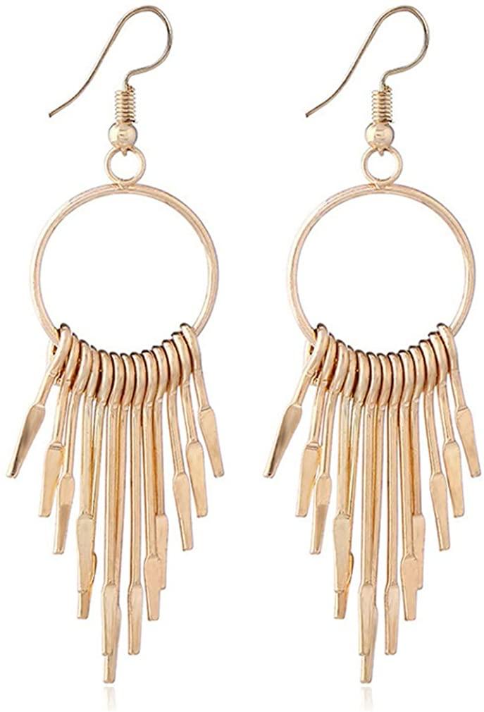YAZILIND Personality Irregular Arrow Tassel Pendant Drop Earrings Female Personality Ear Jewelry