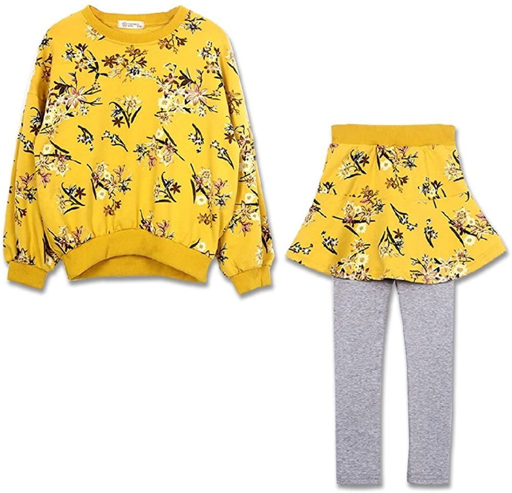 Cute Little Girls 2 Pieces Clothing Set Outfit Top+Leggings Pantsskirts