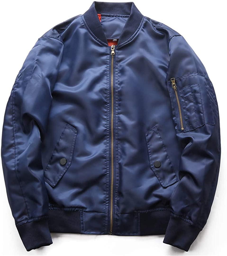 Bomber Jacket Men Air Force Coat Spring Autumn Military Outwear Threaded Collar Windbreaker Pilot Jackets