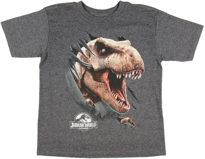 Jurassic World T-Rex Rip Through Boys Tee