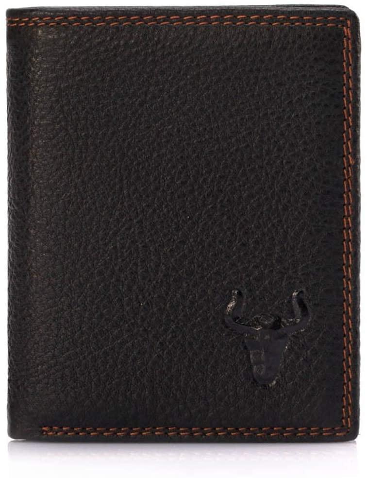 WENNEW Mens Cowhide Wallet Orotund Capacity Perpendicular Multi-Card Wallet (Color : Coffee Color)