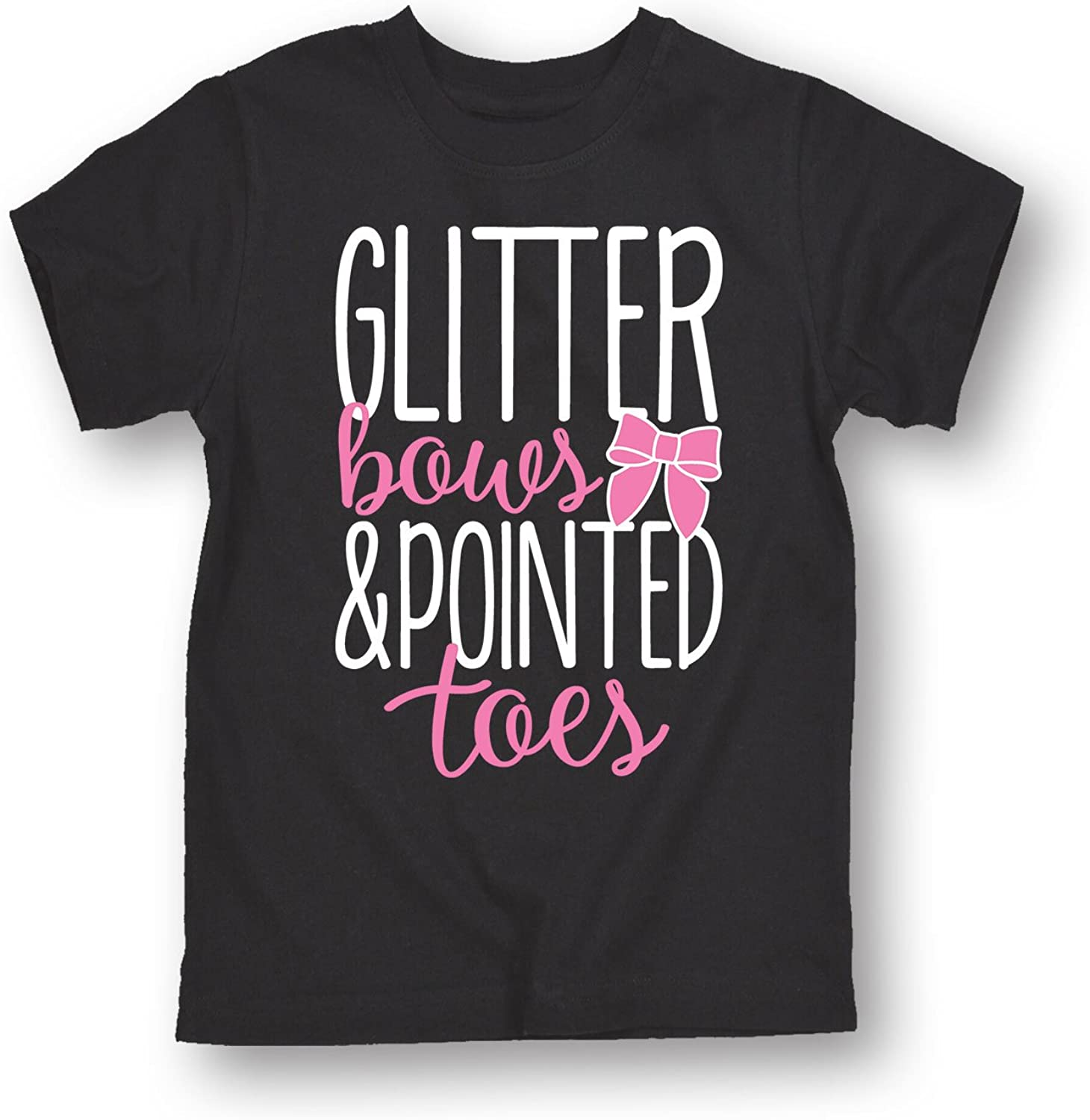 Instant Message Glitter Bows and Pointed Toes - Youth Short Sleeve Graphic T-Shirt