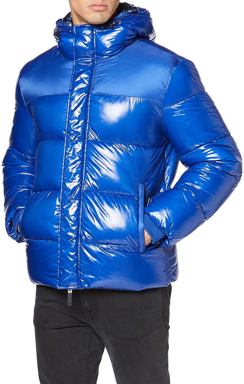 A|X Armani Exchange Men's Zip Up Bluson Puffer Jacket with Hoodie