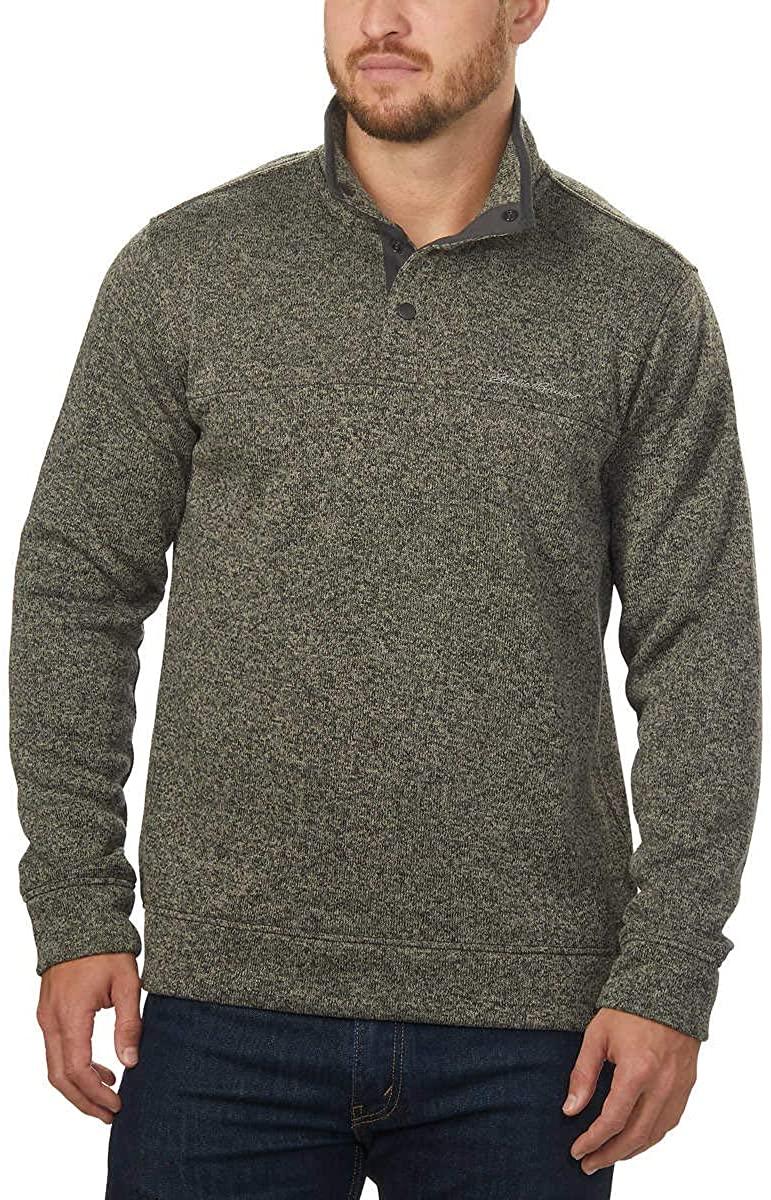 Eddie Bauer Men's Snap Placket Radiator Fleece Pullover Top