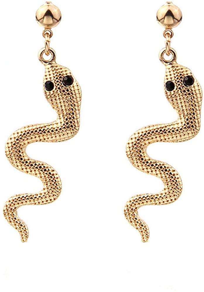 Holloween Snake Earrings Gothic Cleopatra Serpent Costume Wave Snake Drop Earrings for Girls