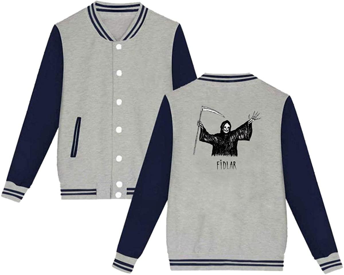 JNAJDAD Fidlar Unisex Baseball Jacket Varsity Jacket