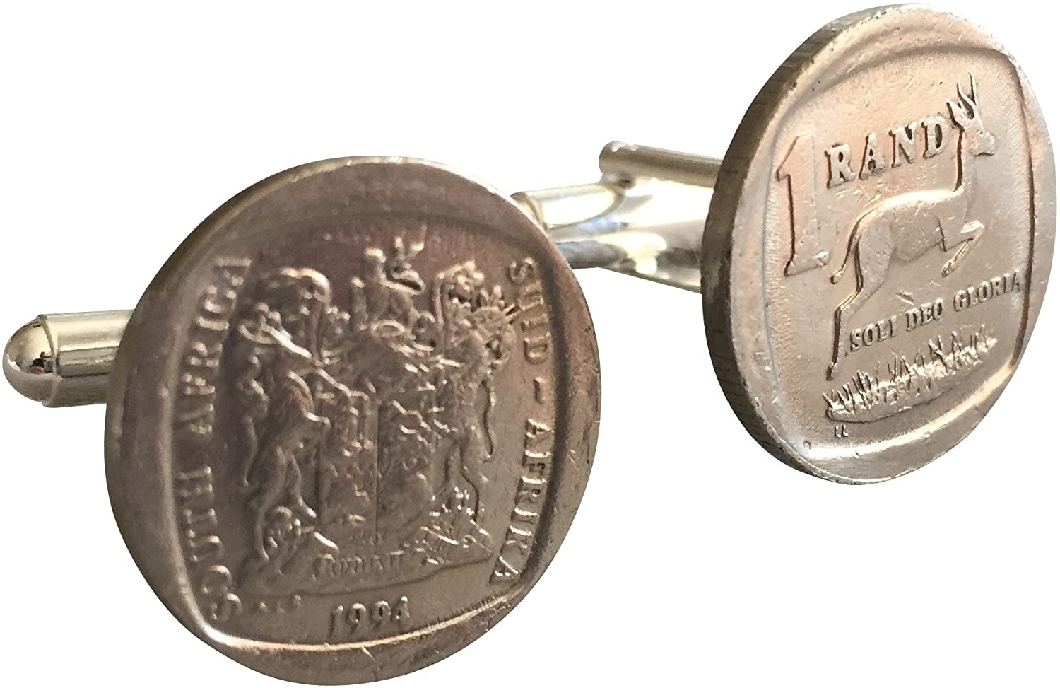 Ammo Gift Box Authentic 1 Rand South Africa Vintage Coin Cufflinks