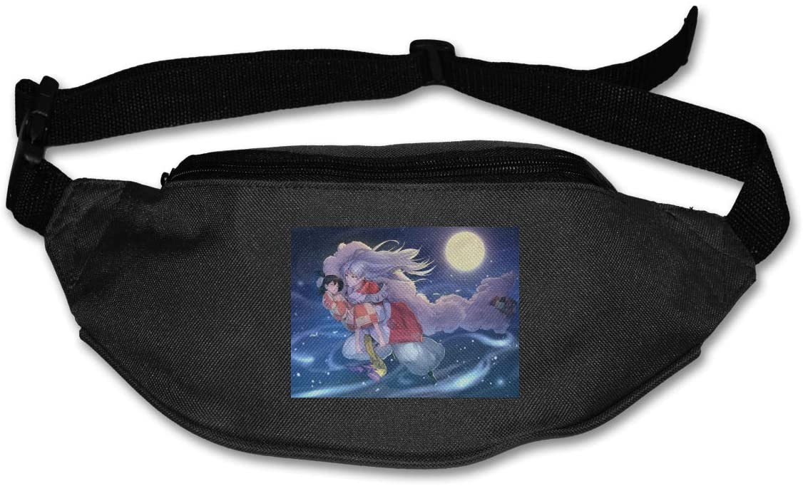 TeriDDeas Inuyasha Unisex Best Combo Fanny Pack Waist Bag Phone Holder Adjustable Running Belt for Cycling,Hiking,Gym