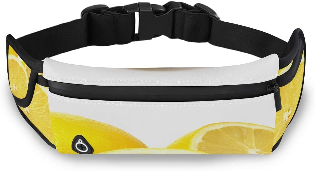 Lemon Isolated On White With Clipping P Travel Bag With Zipper Designer Waist Pack Fashion Tool Bag With Adjustable Strap For Workout Traveling Running