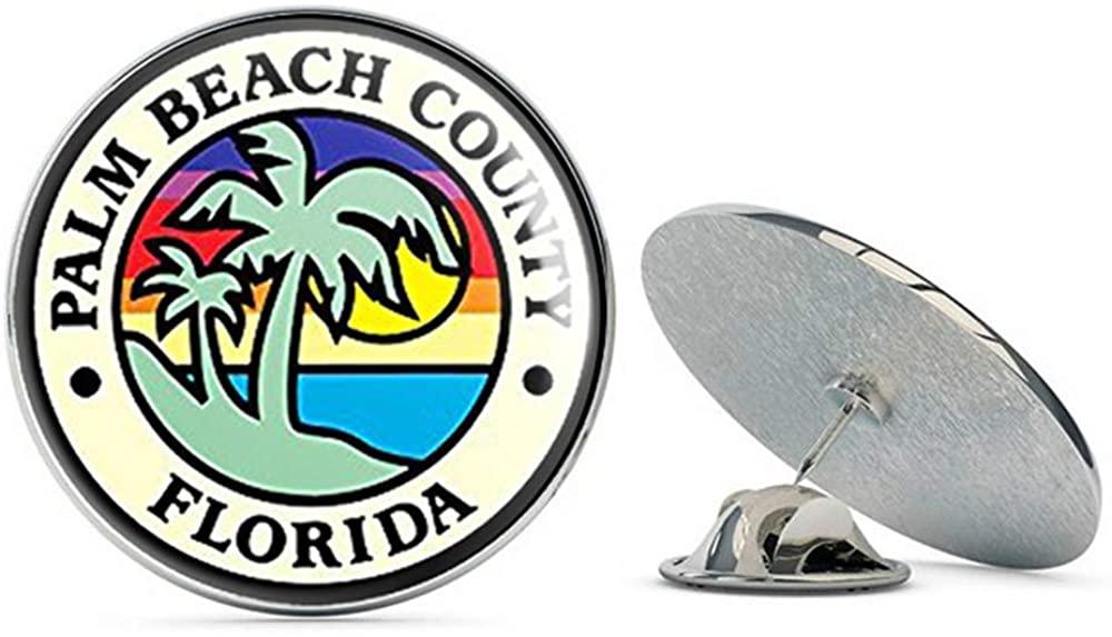 NYC Jewelers Palm Beach County Florida Seal (Logo fl Ocean) Metal 0.75