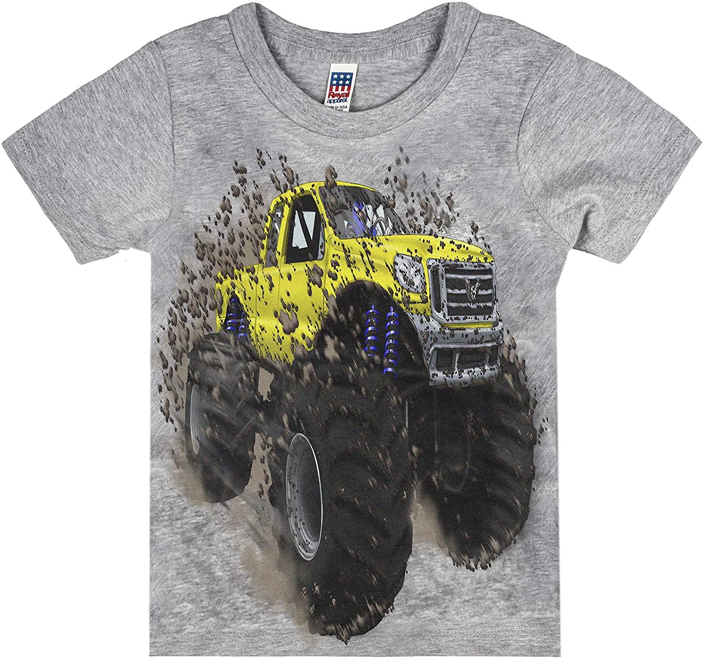 Shirts That Go Little Boys' Big Yellow Monster Truck T-Shirt