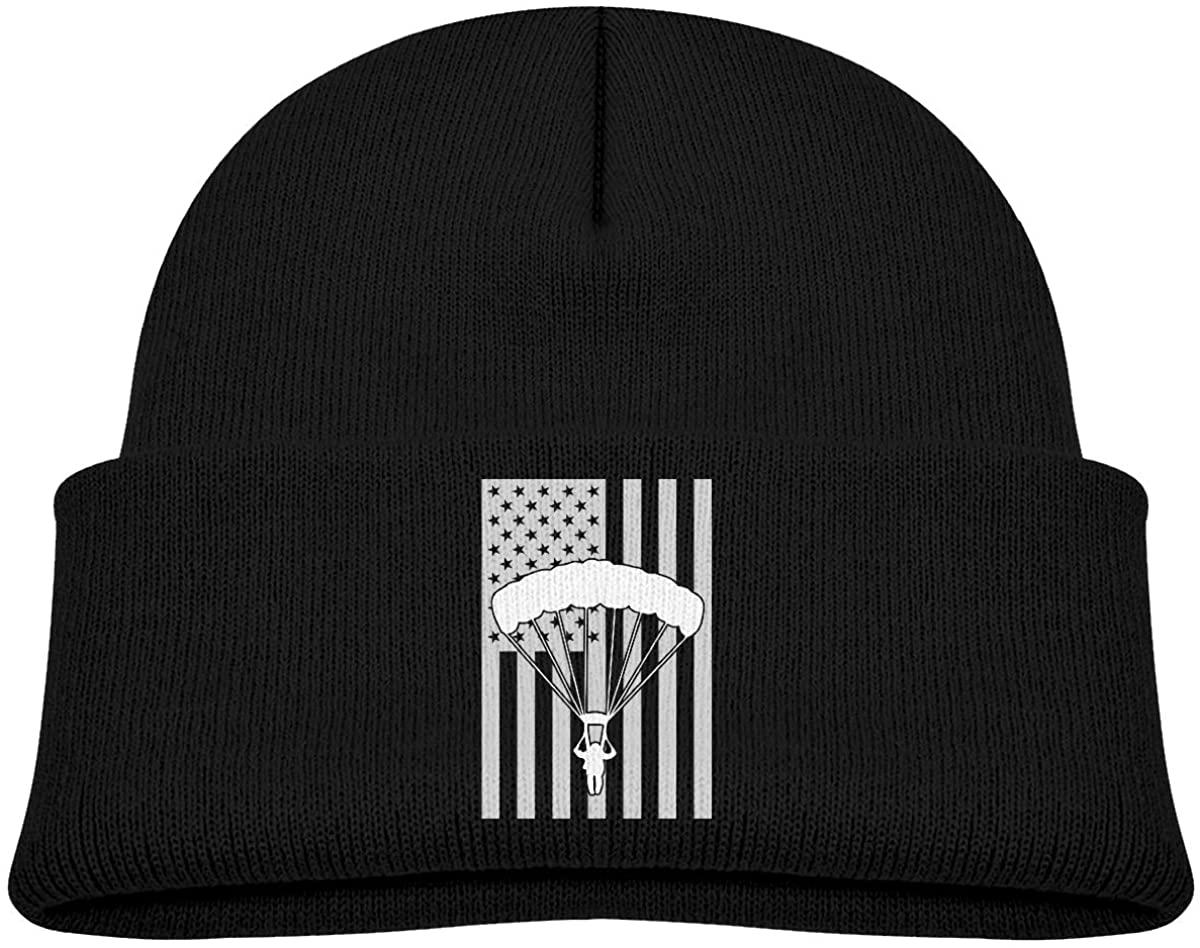 ZWZ Skydiving USA Flag Toddler's Hats Winter Knit Beanie Cap Skull Cap