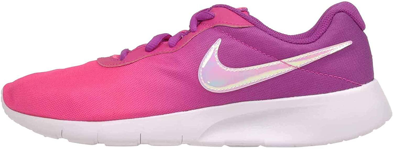 Nike Girl's, Tanjun Print GS Sneaker - Big Kid Pink Purple
