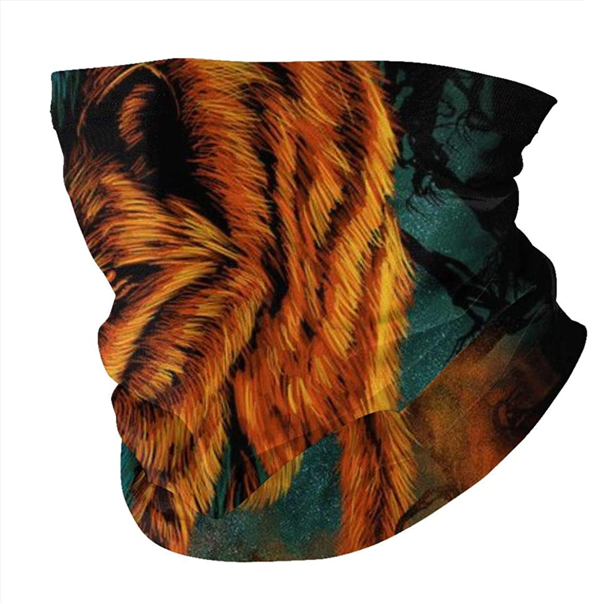 BOKUTT Fire and Ice Wolf Variety face Towel Face Bandana Scarf Ear Loops Men Women Face Rave Bandana Neck Gaiters for Outdoor,Sport,Festivals