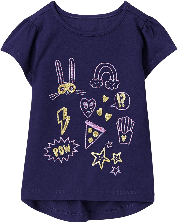Gymboree Girls' Toddler Easy Li'l Short Sleeve Graphic Tee