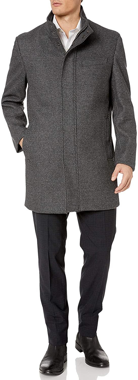 Hart Schaffner Marx Mens Wool Blend Coat, Gray, X-Large