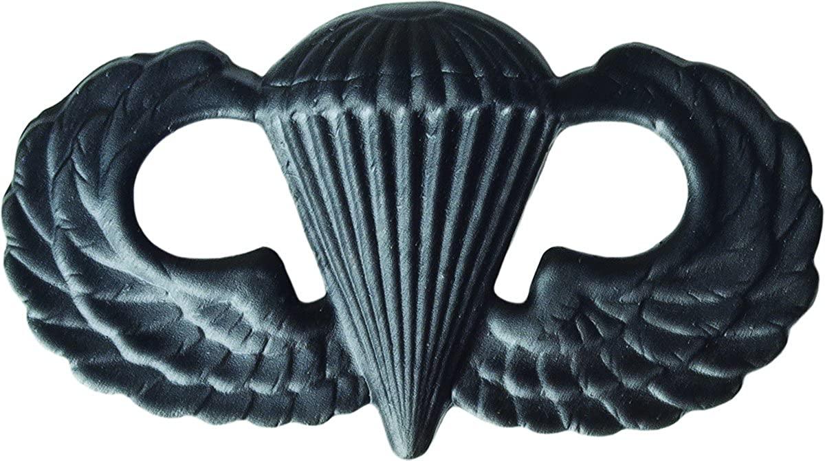 Parachutist Basic - Metal Insignia - Black - Full Size