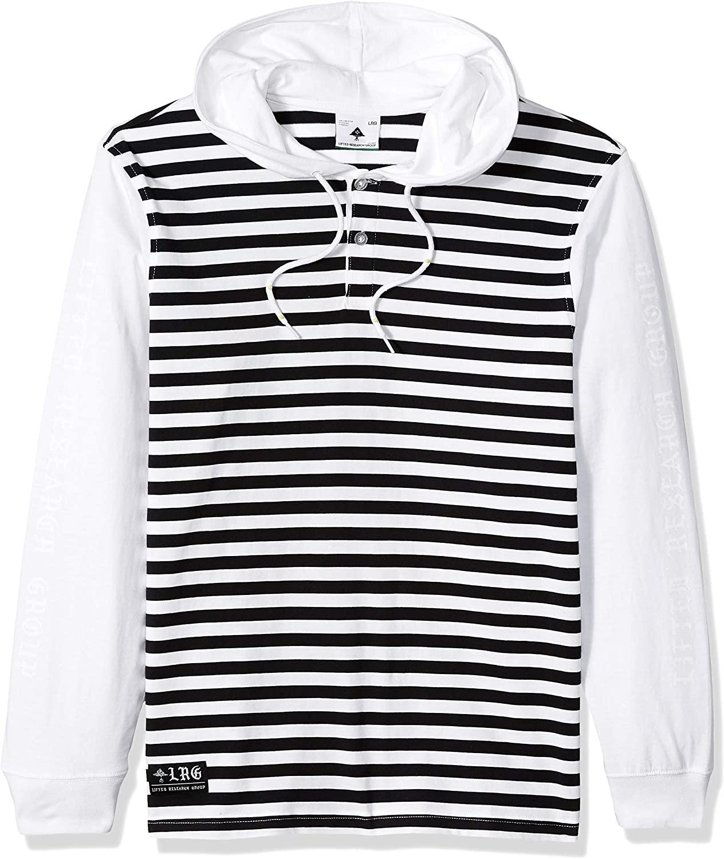 LRG Men's Line Up Hooded Henley Shirt