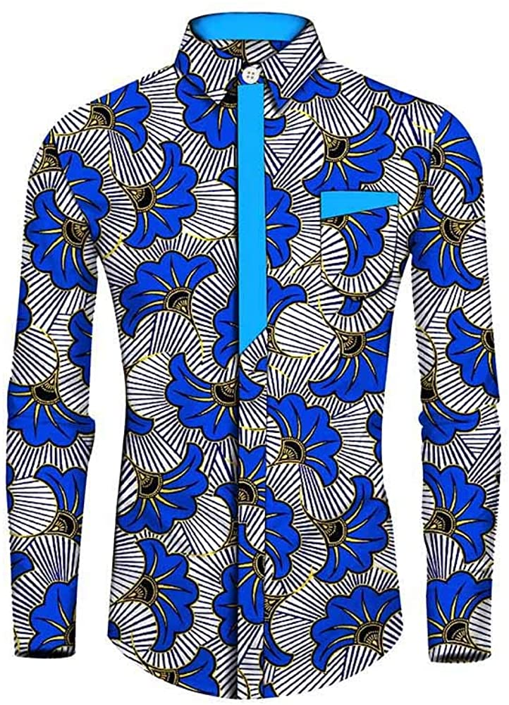 African Men's Shirt Blouse Crop top Suit Clothing Dashikis Print Wax