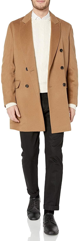 Hart Schaffner Marx Men's Wool Blend Coat, Brown, 48R