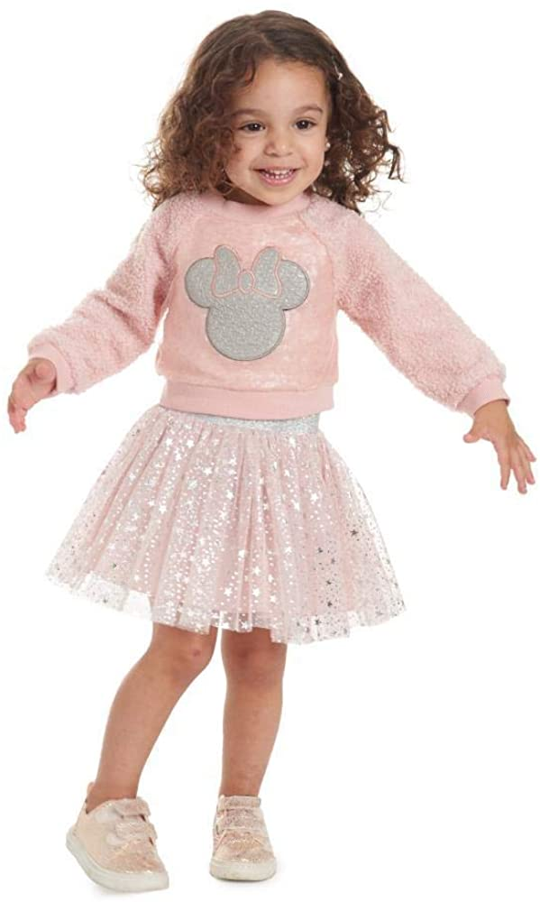 PIPPA & JULIE Disney X Minnie Pink Sequin Skirt Set