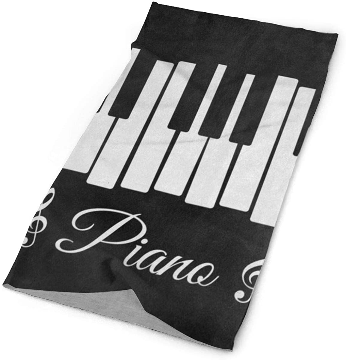 Black Piano Keyboard Music Note Face Mask UV Sun Mask Dust Wind Neck Gaiter Multifunction Bandana