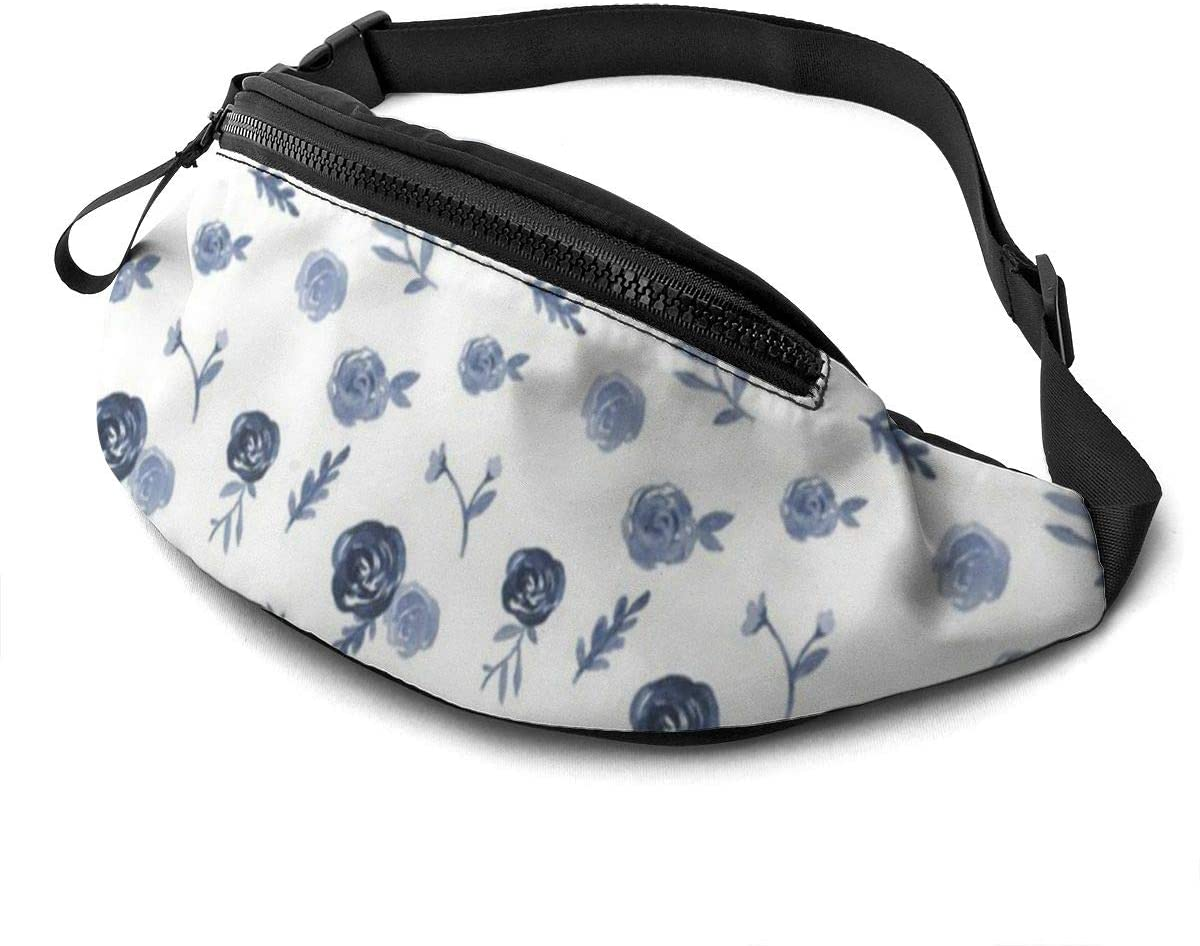 Farmhouse Floral Fanny Pack For Men Women Waist Pack Bag With Headphone Jack And Zipper Pockets Adjustable Straps