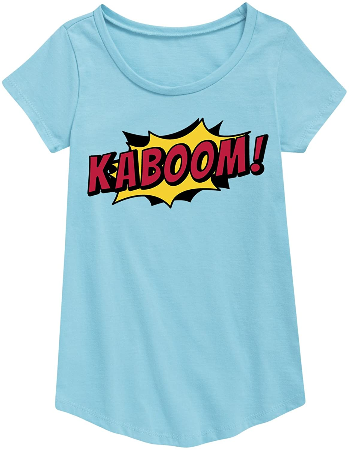 Instant Message Kaboom - Youth Girl Short Sleeve Curved Hem Tee