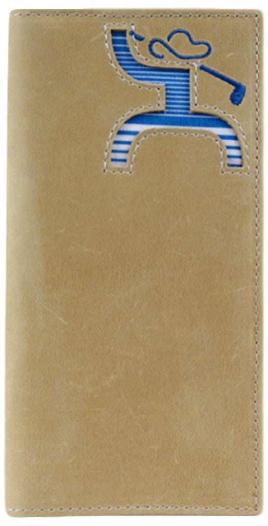 Hooey Men's Hooey Golf Striped Rodeo Wallet Beige/Khaki NoSz