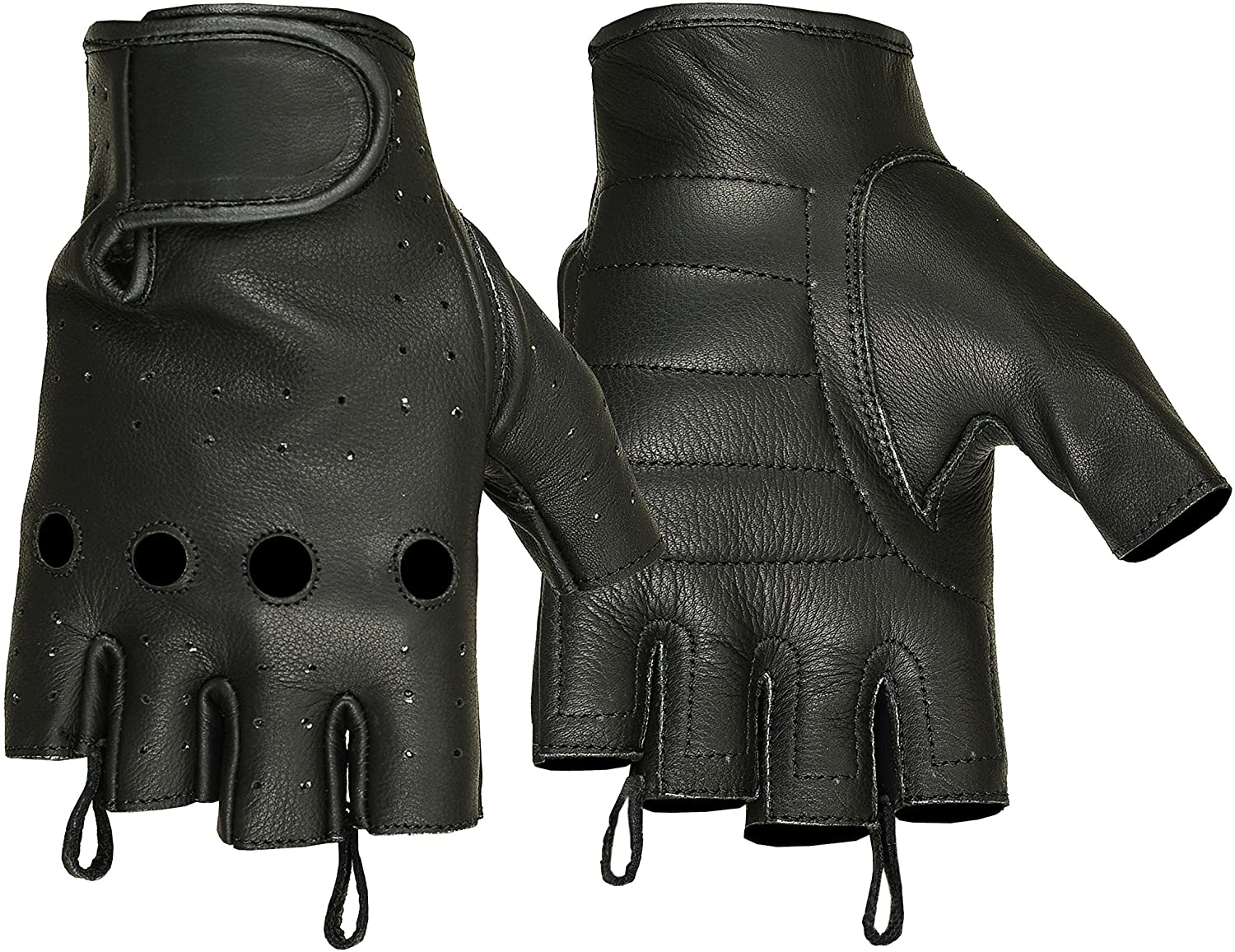 Hugger Affordable Unlined Fingerless Summer Riding Glove