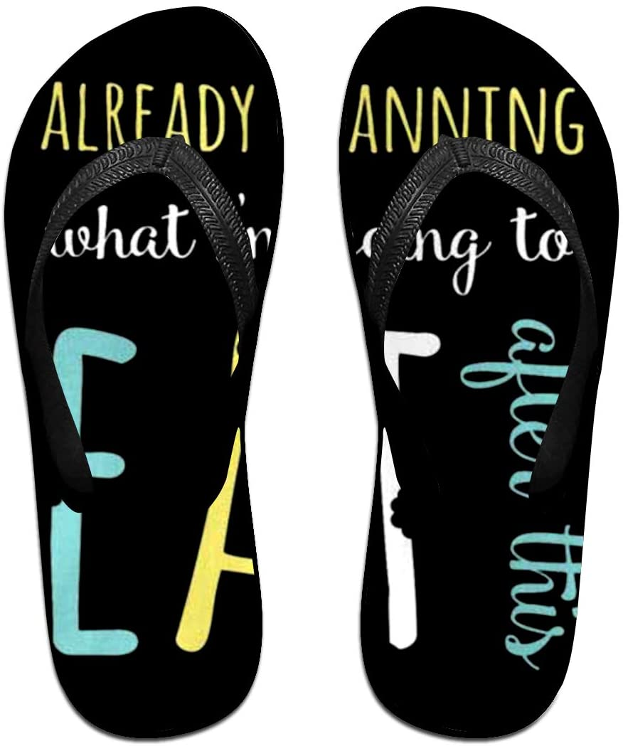 LzVong Already Planning What I'm Going to Eat After This Flip Flops Beach Slippers Flat Sandals