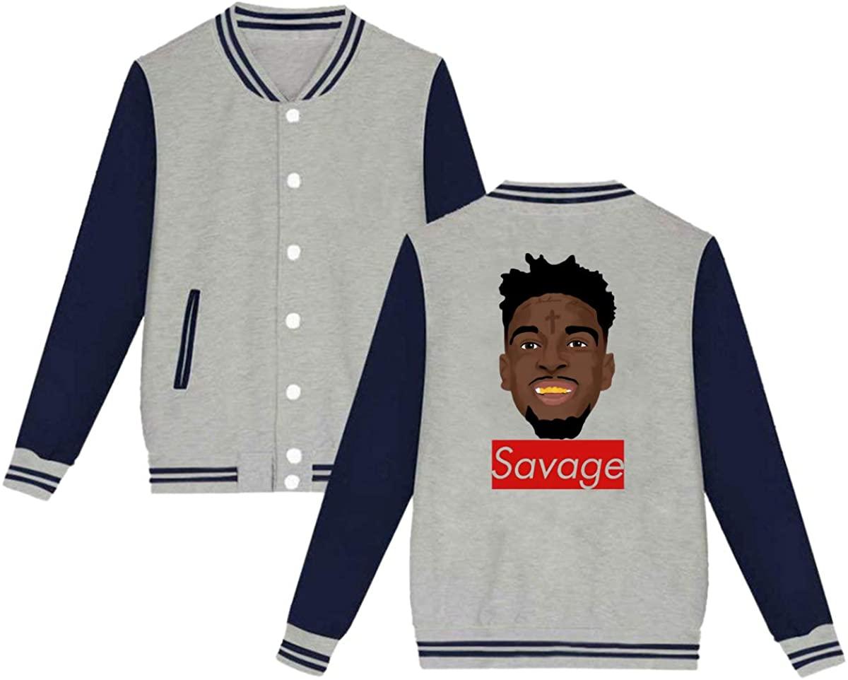 1953 Savage Fashion Music Hip Hop Swag Unisex Baseball Jacket Varsity Jacket