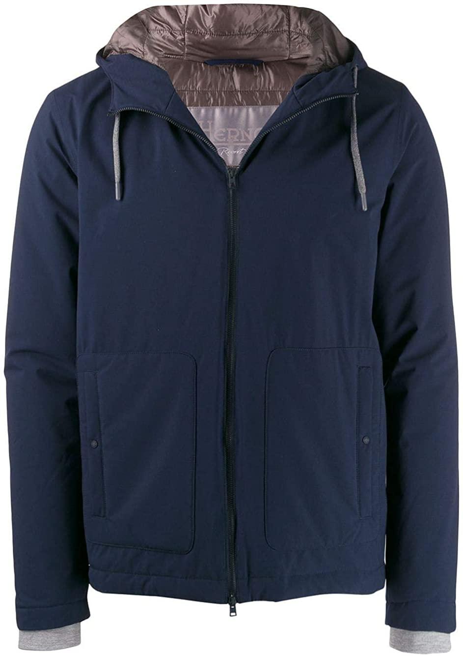 Herno Luxury Fashion Man GI004UR122549209 Blue Polyamide Outerwear Jacket   Fall Winter 19