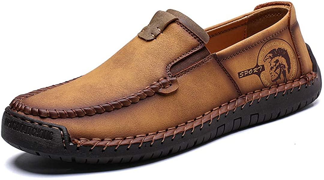 Classic Comfortable Leather Men Casual Shoes Slip On Loafers Men Split Leather Shoes Men Flats Moccasins