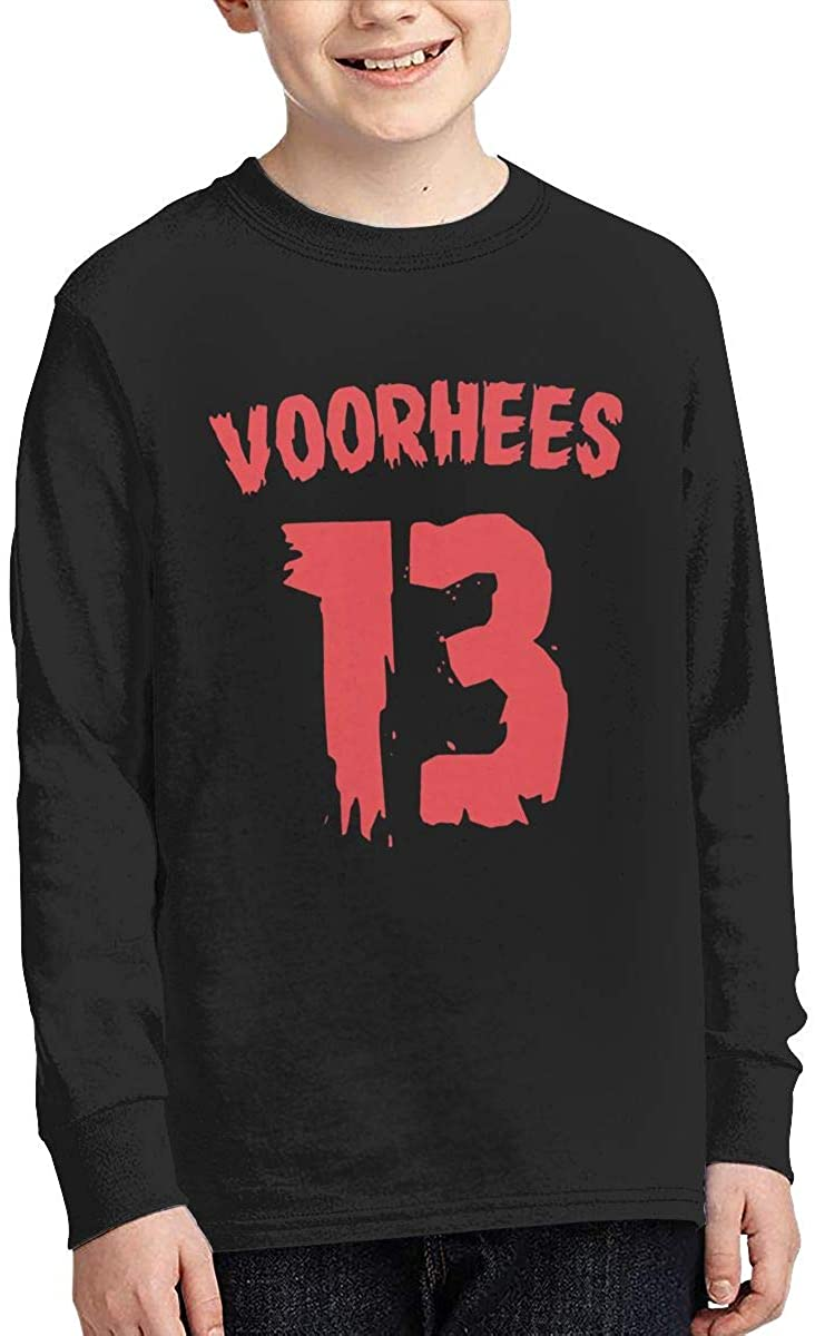 Haini Youth Jason Voorhees Sports Boy Or Girl Long Sleeve Shirt-Moisture Absorbing and Perspiration.