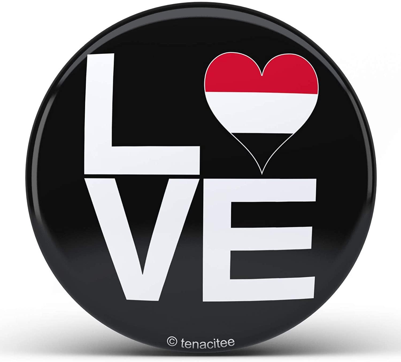 Tenacitee Love Block Yemen Heart Pinback Button