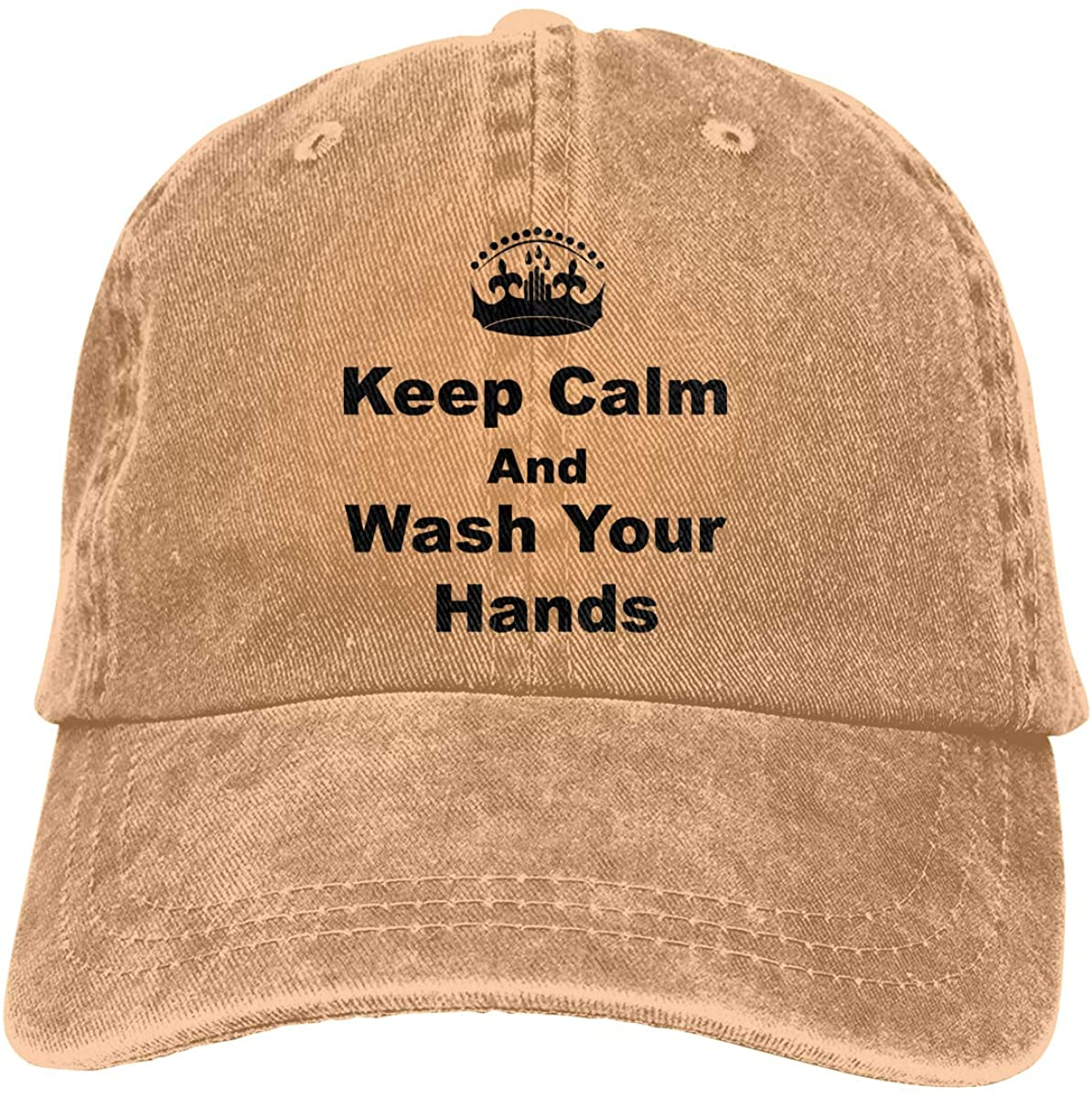 Keep Calm and Wash Your Hands 1 Adult Fashion Cool Adjustable Denim Cowboy Hat