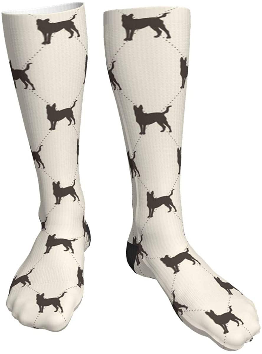 Unisex Casual Socks, Dogs Athletic Socks Compression Crew Socks 50cm Long Socks