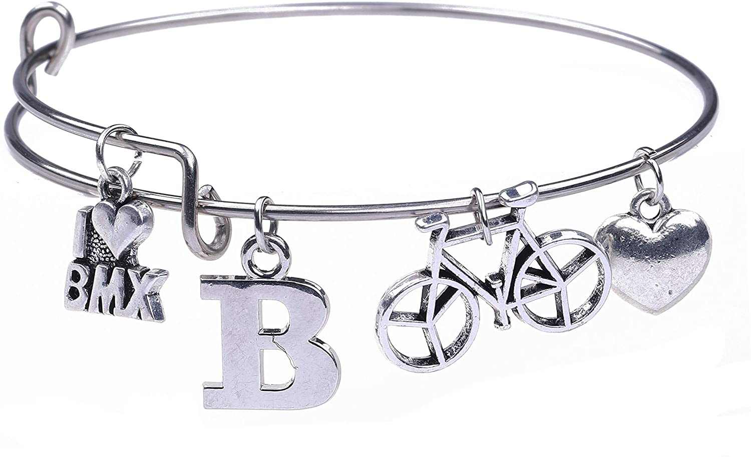 cooltime BMXfreestyle Bicycle Motorcross Stainless Steel Bangle Bracelet for Sport Boys