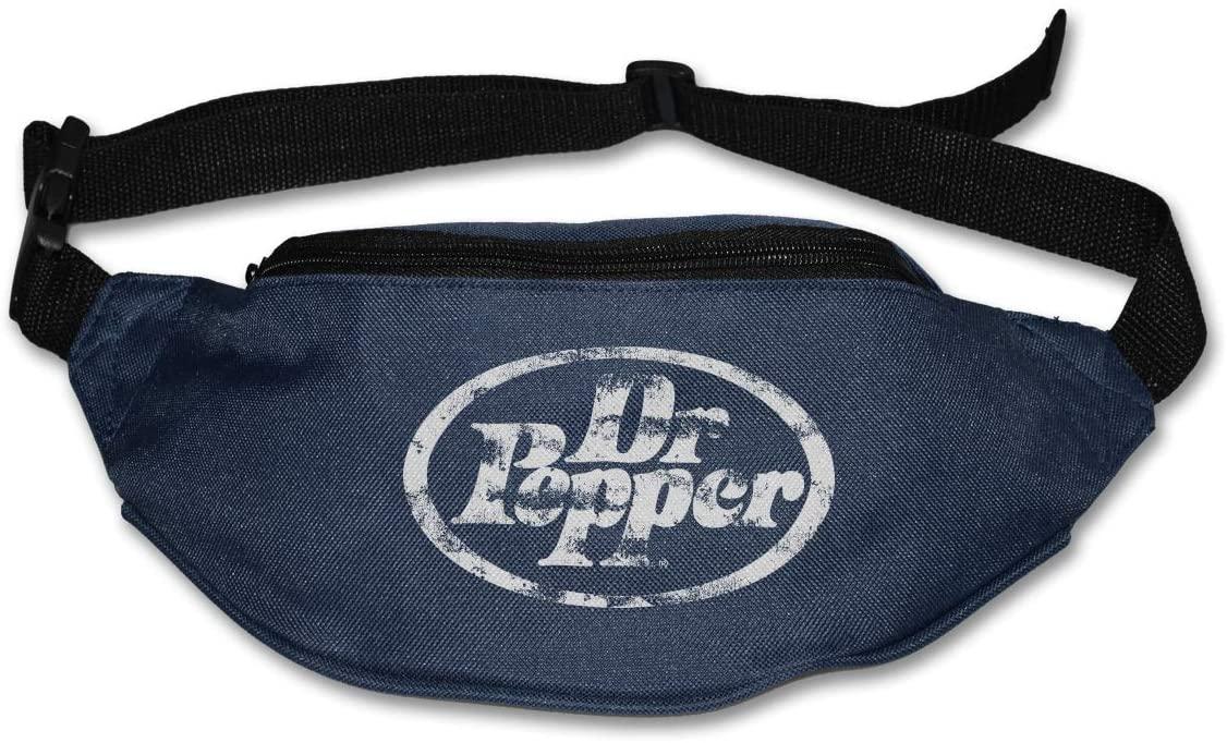Hwxzviodfjg Dr Pepper Adjustable Running Belt Waist Pack Belt Fanny Pack Navy