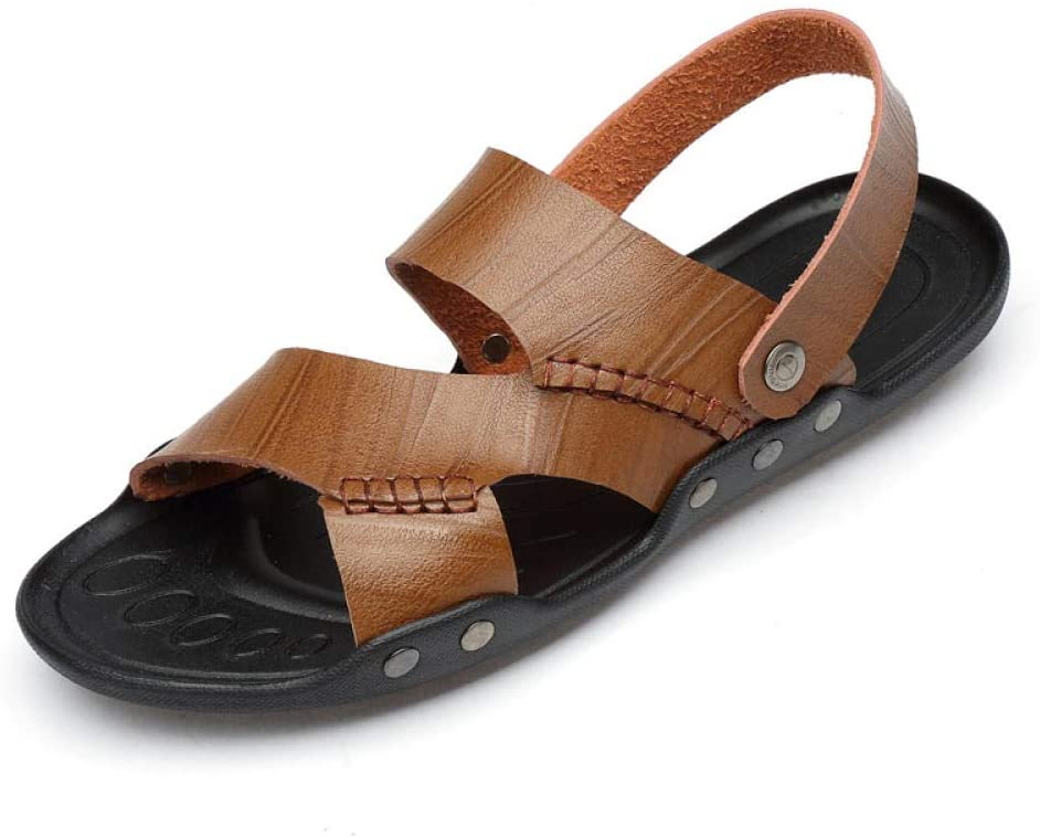 sandals Men's simple casual sandals, comfortable soft bottom, convenient to wear two outdoor sandals and slippers