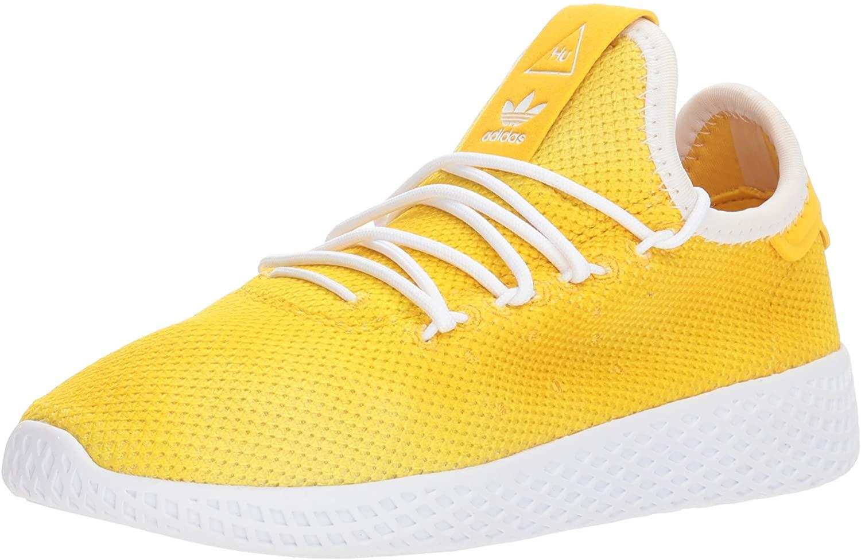 adidas Originals Unisex-Kid's PW Tennis HU Running Shoe, Bold Orange, FTWR White, FTWR White, 2.5 M US Little Kid