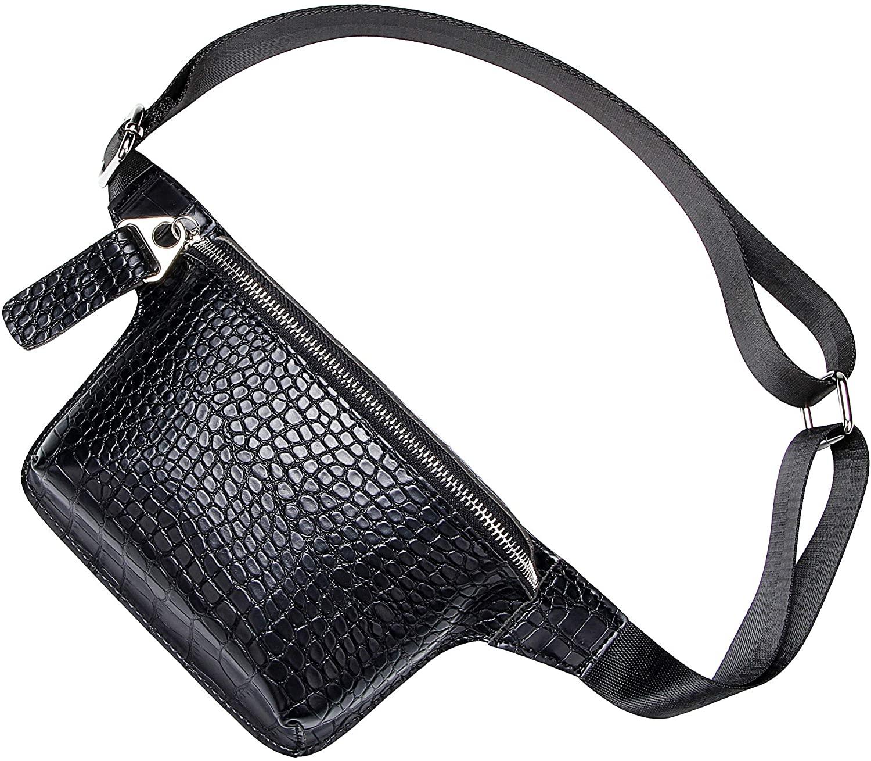 Crocodile Waist Bags for Women Stylish Fanny Packs Phone Purse Mini Chest Bag