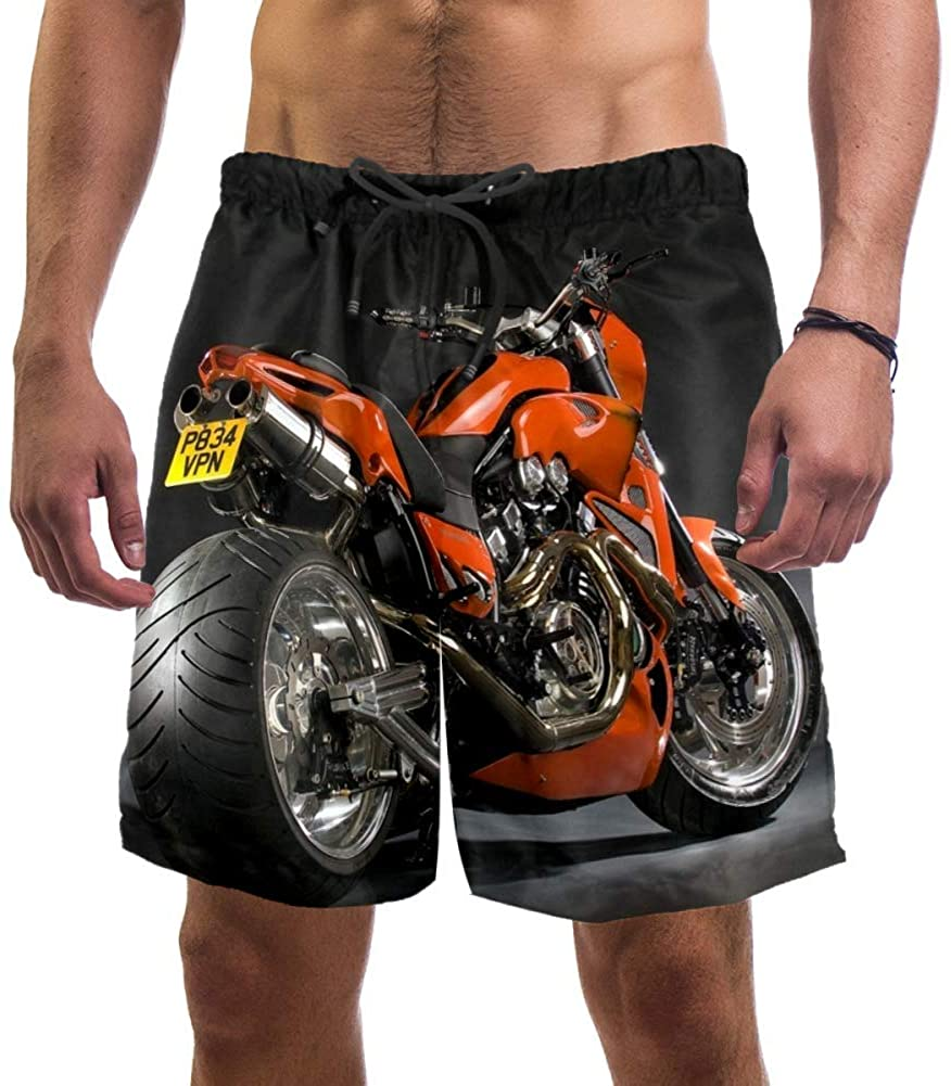 Desheze Heavy Motorcycle Mens Swim Trunks Quick Dry Swim Shorts XXL