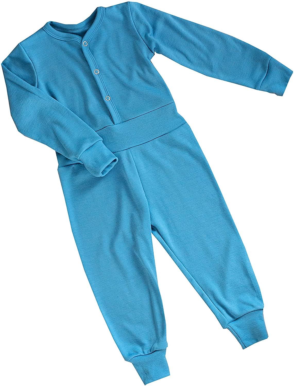 Green Rose Girls One-Piece Pyjamas 100% Merino Wool 3 Month - 5 Years